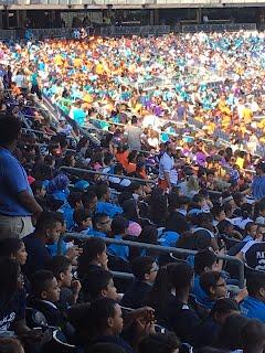 Bronx students at Yankee Stadium